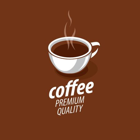 vector logo for coffee, hot drink illustration