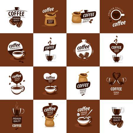 vector logo for coffee, hot drink illustration