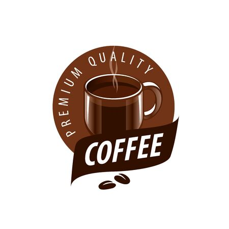 glassful: vector logo for coffee, hot drink illustration