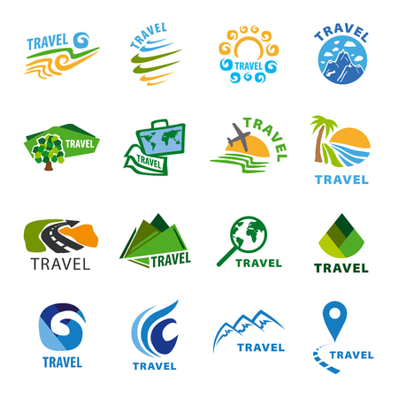 water concept: set of vector  for travel and leisure Illustration
