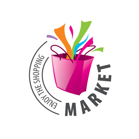 Wektor szablon logo na zakupy. Koncepcje i pomysły Logo