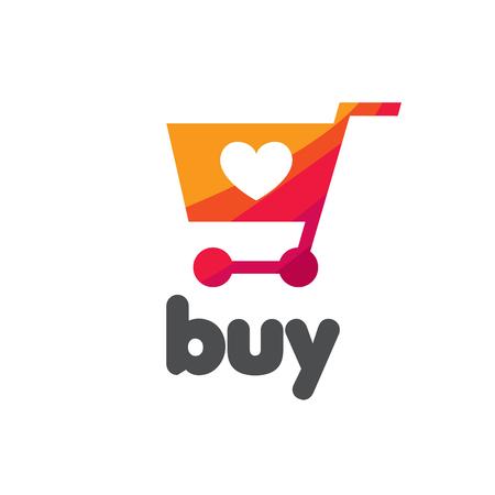 Vector logo template om te winkelen. Concepten en ideeën