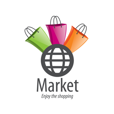 Vector logo template for shopping. Concepts and ideas