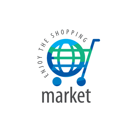 Modelo de la insignia del vector para ir de compras. Conceptos e ideas