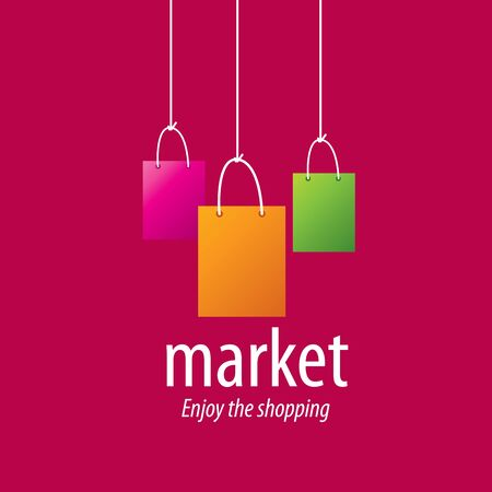 Vector  template for shopping. Concepts and ideas Illustration