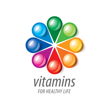 vitamins: abstract template vitamins for health