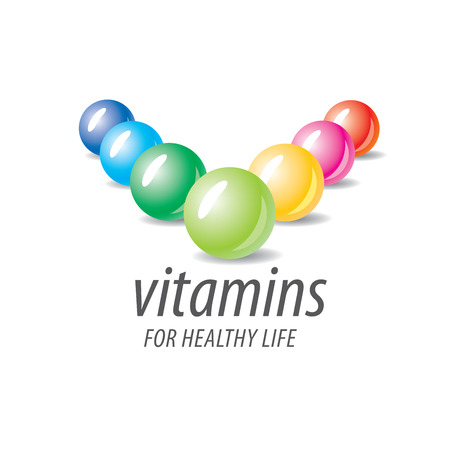 abstract template vitamins for health
