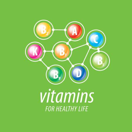 witaminy: abstrakcyjne witaminy wektor szablon dla zdrowia