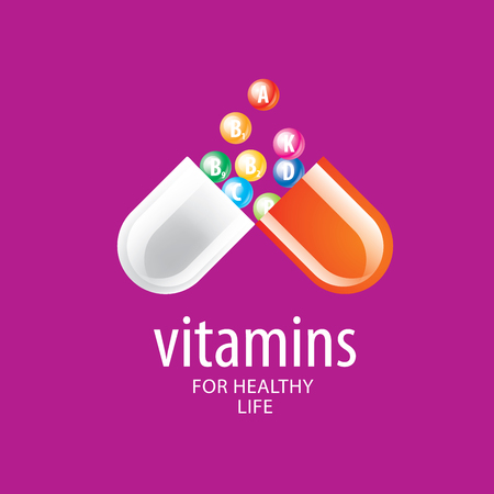 natural therapy: abstract vector template vitamins for health Illustration