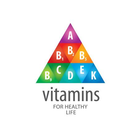 piramide nutricional: abstractos vitaminas plantilla de vectores para la salud Vectores