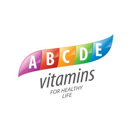 vitamins: abstract vector template vitamins for health Illustration