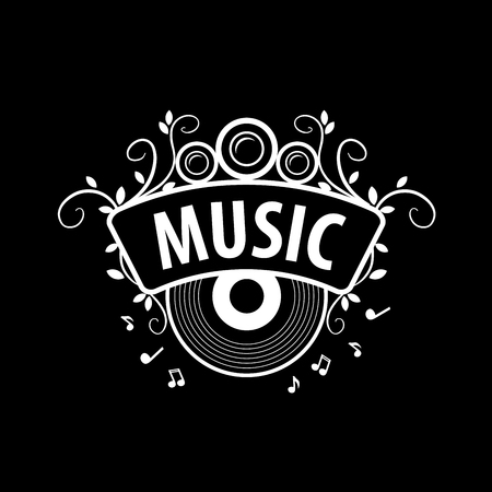 music icons: Abstract template for music and sound.
