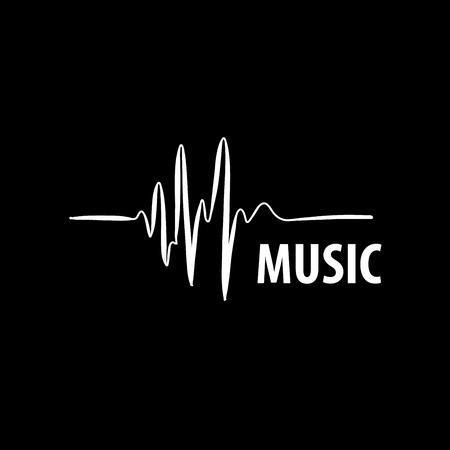 Resumen logotipo para la música y el sonido. modelo del vector Logos