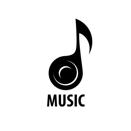 notes music: Abstract logo for music and sound. Vector pattern Illustration