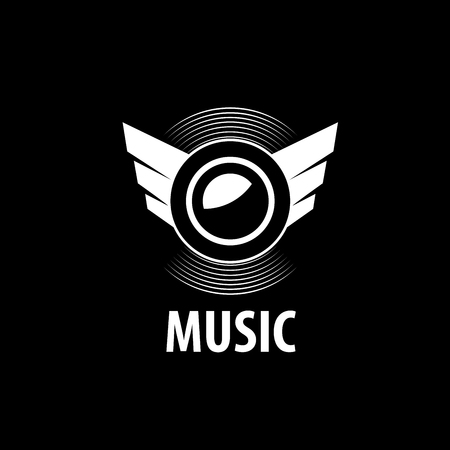 logo music: Abstract logo for music and sound. Vector pattern Illustration