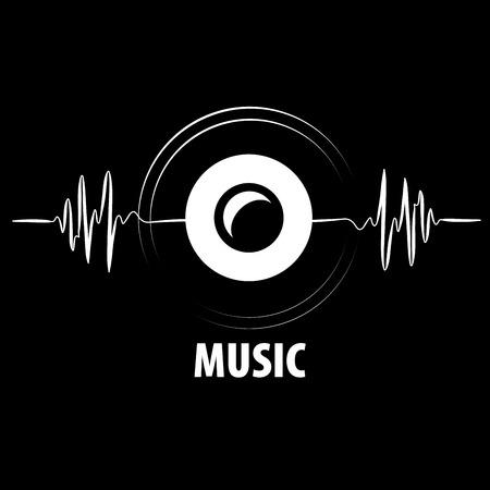 Resumen logotipo para la música y el sonido. modelo del vector