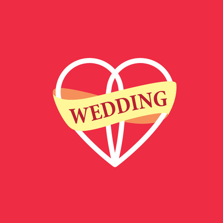 universal love: Resumen logotipo para su boda. Vector la ilustraci�n del modelo Vectores