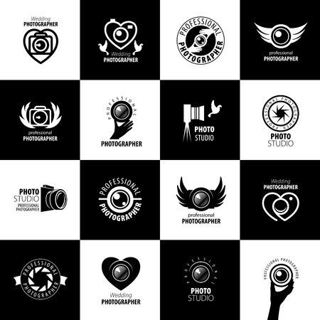 digital camera: Vector logo template for a photographer or studio Illustration