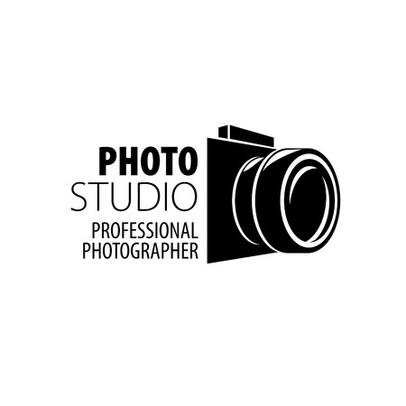 Vector logo template voor een fotograaf of studio Stock Illustratie