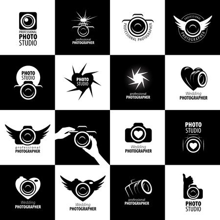 Vector logo template for a photographer or studio 일러스트