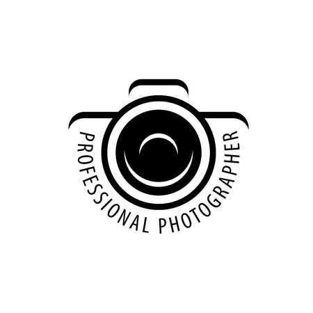 Vector logo template for a photographer or studio Çizim