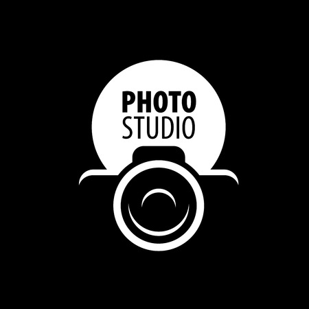 silhouettes: Vector logo template for a photographer or studio Illustration