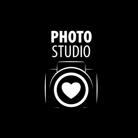 photo icon: Vector logo template for a photographer or studio Illustration