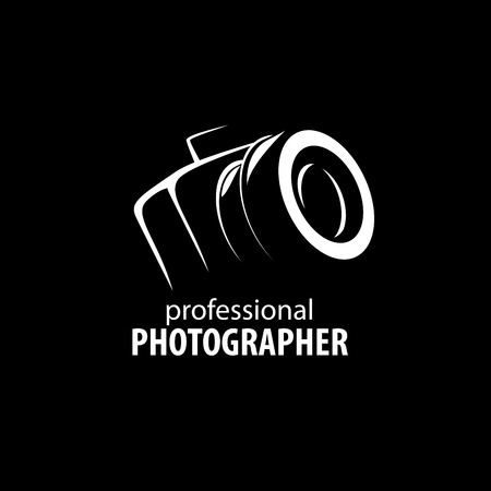 Vector logo template for a photographer or studio Иллюстрация