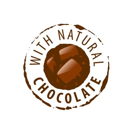 confectioner: Template logo chocolate and sweets. Vector illustration