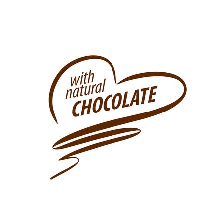 Sjabloon logo chocolade en snoep. vector illustratie