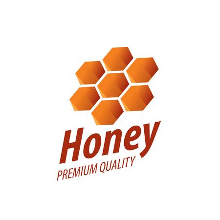 hexahedron: Honey logo template. Vector illustration. Design element Illustration