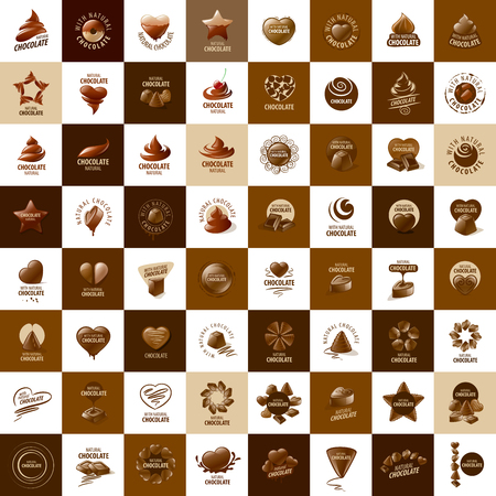 Template logo chocolat et des bonbons. Vector illustration Banque d'images - 54894078