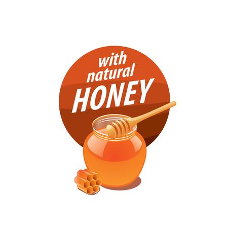 nectars: Honey logo template. Vector illustration. Design element Illustration