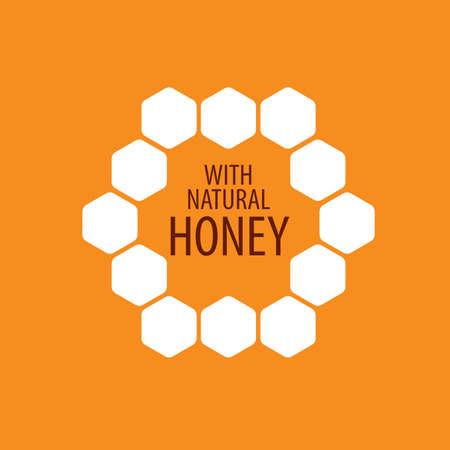 Honey emblem template. Vector illustration. Design element