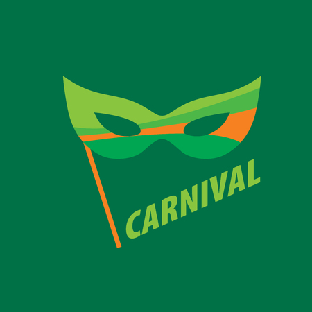 mardi gras: Abstract emblem template carnival or festival. Vector illustration