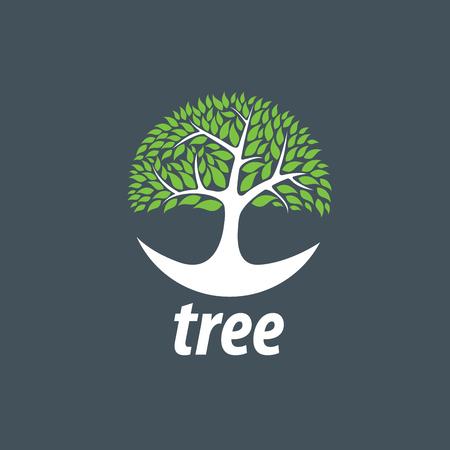 Tree emblem template. Abstract vector illustration. Plant Illustration