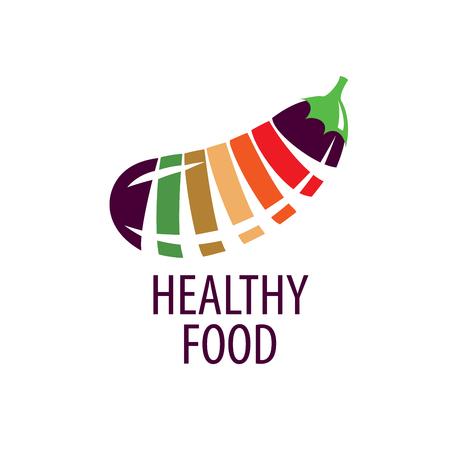 lobule: Logo pattern of healthy eating. Vector illustration Illustration