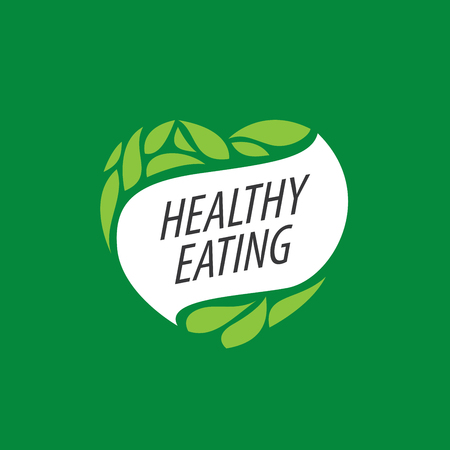 eat healthy: Logo pattern of healthy eating. Vector illustration Illustration