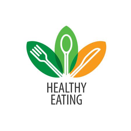 Logo pattern of healthy eating. Vector illustration