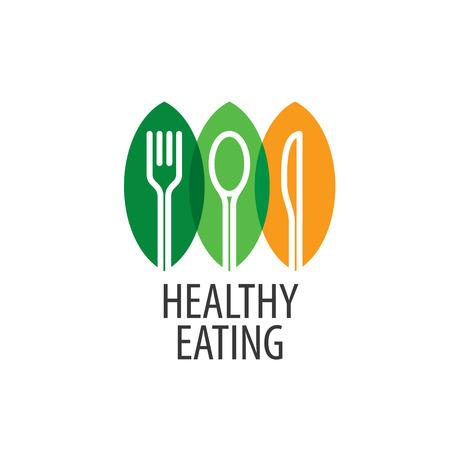 Logo de saines habitudes alimentaires. Vector illustration Logo