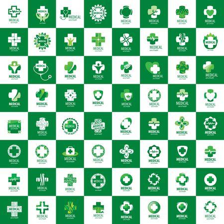 creativity logo: Cross logo for medicine and pharmacy. Vector illustration Illustration