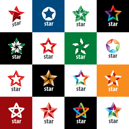 red star: Abstract star sign Branding Identity Corporate vector unusual logo design template