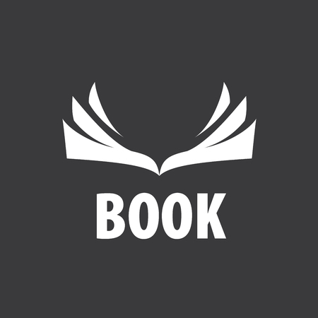 Abstract logo of books and knowledge. Illustration, vector template