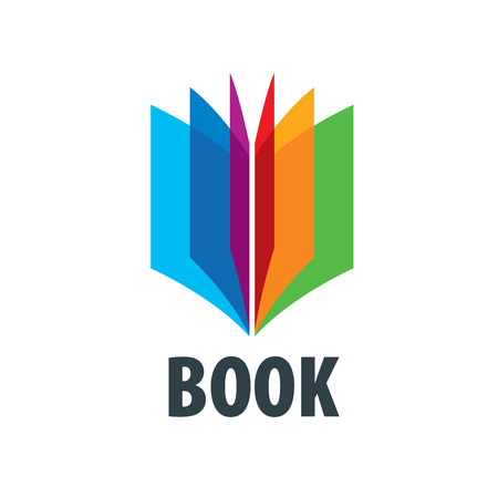 Abstract logo of books and knowledge. Illustration, vector template Logó