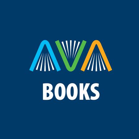 Logo abstrait de livres et de connaissances. Illustration, modèle de vecteur