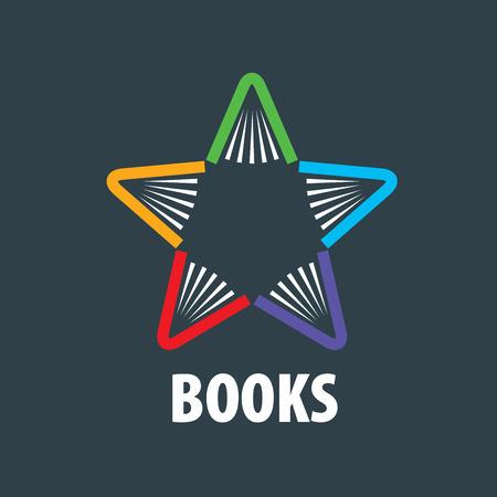 Abstraktes Zeichen der Bücher und des Wissens. Illustration, Vektor-Vorlage