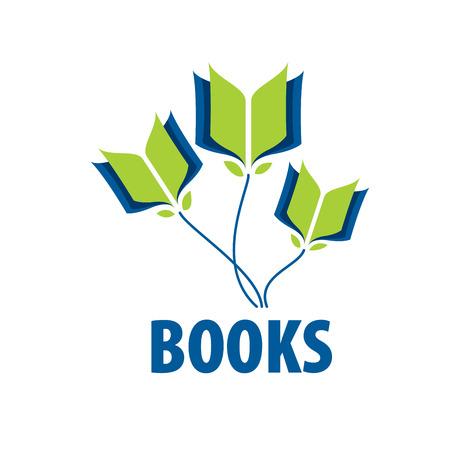 Résumé logo de livres et de connaissances. Illustration, modèle vectoriel