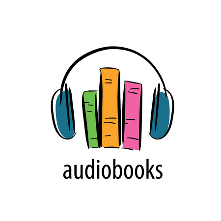 Abstract patroon audioboeken. Illustratie vector icon