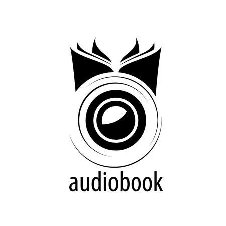 Abstract pattern audiobooks. Illustration vector icon Stock Illustratie