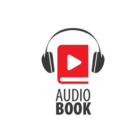 Abstract pattern audiobooks logo. Illustration vector icon Illustration